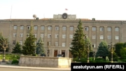 Nagorno-Karabakh - The main government building in Stepanakert, 8Jul2011.