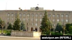 Nagorno-Karabakh - The main government building in Stepanakert, 8Jul2011.