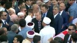 Erdoğan cənazə namazında çıxış edib