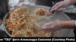 Tomsk uzbeks pilaf for doctors