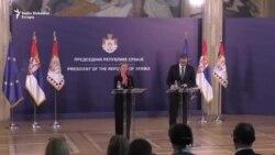Mogerini i Vučić: Nastavljamo put ka EU