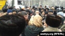 Алматыдағы митинг. 15 ақпан 2014 жыл.