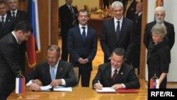 Președinții Boris Tadic și Dmitry Medvedev la Belgrade