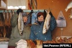 Торговки рыбой в татарском селе Линейное