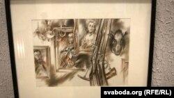 """Арлен Кашкурэвіч, ілюстрацыя да аповесьці """"Дзікае паляваньне караля Стаха"""""""