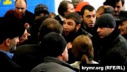 Неизвестные пытались сорвать конференцию Комитета по защите прав крымскотатарского народа, 17 января 2015 года