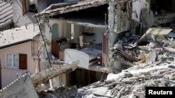 Зруйновані землетрусом будівлі у центральній Італії, 26 серпня 2016 року