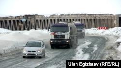 Трасса Ош-Бишкек, архивное фото.