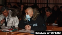 Мурат Суталинов сот залында, Бишкек, 14-январь, 2013.