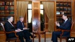 """Претседателот на Сирија Башар ал Асад за време на интервјуто за """"Фокс"""""""