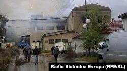 Пожар во фирмата Житомел во Куманово.