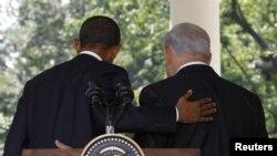 Barack Obama i Benjamin Netanyahu nakon konferencije za novinare ispred Bijele kuće, septembar 2010.