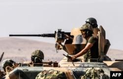 Турецкие солдаты на границе с Сирией. 28 августа