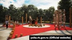 Пионерский парк в Ялте