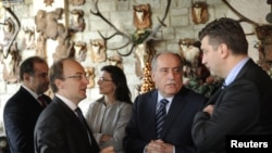 Takimi i shefave të diplomacisë së vendeve nënshkruese të Kartës së Adriatikut. Shkup, 15 dhjetor 2010.