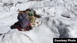 Останки альпинистки Елены Базыкиной, пропавшей в 1987 году.