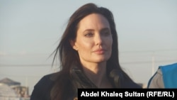 Actress Angelina Jolie during a previous visit to Iraq