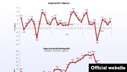 თვიური და წლიური ინფლაციის გრაფიკი