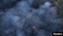 Фото пожежі у зоні відчуження, 28 квітня 2015 року