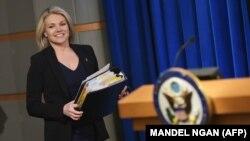 Гезер Науерт, яка стала речницею Держдепартаменту в квітні 2017 року, цього року була призначена виконувачем обов'язків заступника держсекретаря з публічної дипломатії і зв'язків з громадськістю