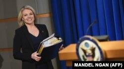 Zëdhënësja e Departamentit amerikan të Shtetit, Heather Nauert.