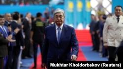 Қазақстан президенті болып сайланған Қасым-Жомарт Тоқаев ант беру рәсімінде. Нұр-Сұлтан, 12 маусым 2019 жыл.
