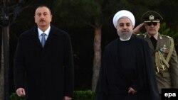 Ադրբեջանի նախագահ Իլհամ Ալիևն ու Իրանի նախագահ Հասան Ռոհանին, Բաքու, 2014թ.