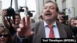 Геннадий Гудков после заседания Госдумы, на котором было принято решение о лишении его депутатских полномочий. 14 сентября 2012 года