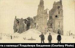 Зьнішчаны храм у Смаргонях, 1918. Пабудаваны ў пачатку ХХ стагодзьдзя. Пасьля Першай сусьветнай вайны не аднаўляўся