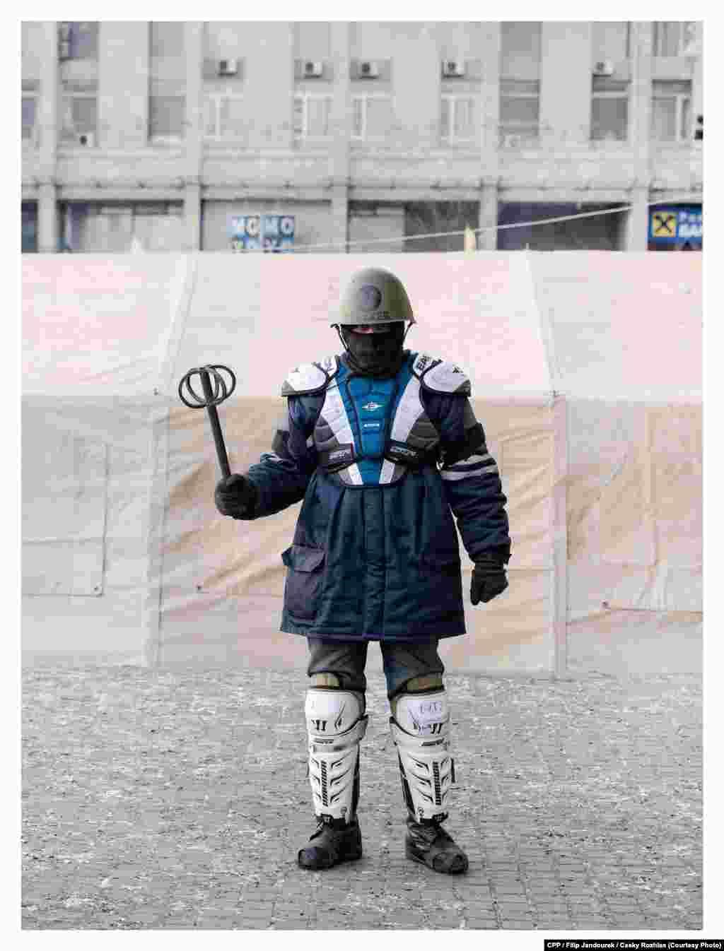 "First Prize,Portrait:From a series titled ""Many Faces of the Ukrainian Revolution"" (Cesky Rozhlas/Filip Jandourek)"