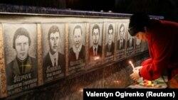 Ուկրաինայում հարգանքի տուրք են մատուցում Չերնոբիլի վթարի զոհերի հիշատակին, Սլավուտիչ, 25-ը ապրիլի, 2018թ.
