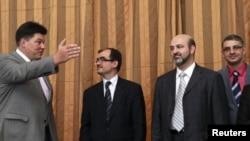 Сириската делегација со рускиот специјален претставник за Африка,Михаил Маргелов