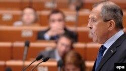 Sergei Lavrov la Consiliul Europei