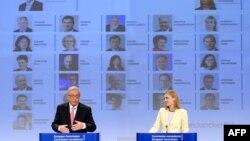 Жан-Клод Юнкер выступает на пресс-конференции в Брюсселе 10 сентября 2014 года
