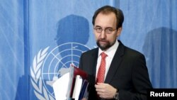 UN Human Rights High Commissioner Zeid bin Ra'ad Al Hussein (file photo)