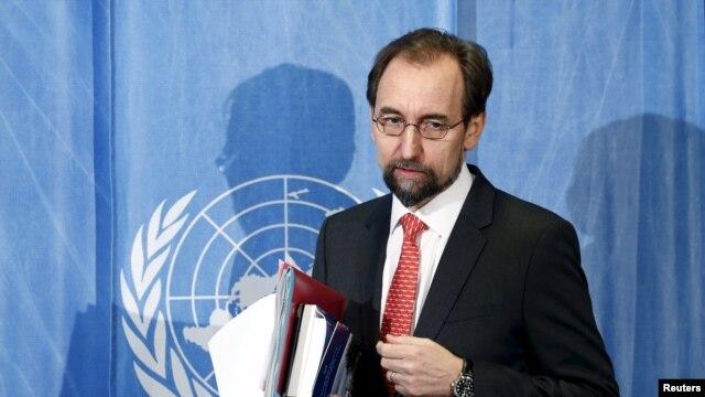 UN human rights chief Zeid Ra'ad al-Hussein