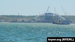 Будівництво Керченського мосту, архівне фото