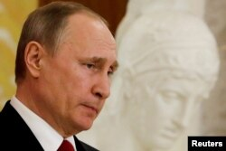 Ресей президенті Владимир Путин. Петербург, 3 сәуір 2017 жыл. (Көрнекі сурет)