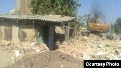 Шахрисабз шаарында талкаланган үйлөр