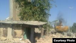 Разрушение строений в городе Шахрисабз в Узбекистане.