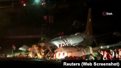 Разрушение самолета в Турции