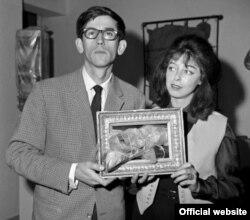 Christo și soția sa, artista Jeanne-Claude, în tinerețe
