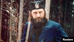 Nikola Poplašen u četničkoj uniformi, fotografija iz 1992.