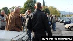 Забастовка работников алюминиевого завода в Подгорице. 6 ноября 2013 года.
