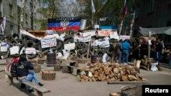Прарасейскія актывісты ў Славянску