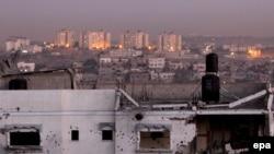 خانهای که در جنگ غزه ویران شده است.