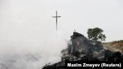 Место падения обломков малайзийского «Боинга» рейса MH17, 17 июля 2014 года
