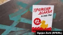 Predizborni plakati Inicijative Ne da(vi)mo Beograd
