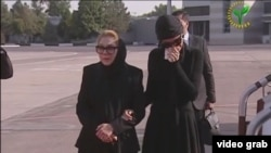 Дочь Каримова Лола и супруга Татьяна Каримова