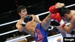 Кыргызстандын кик-боксчусу Евразиянын чемпиону Кумар Жалиев